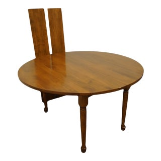 """Sprague & Carleton Colonial Style Solid Hard Rock Maple 83"""" Drop Leaf Dining Table For Sale"""