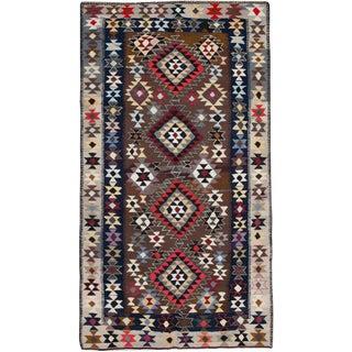 "Vintage Persian Flatweave Kilim Rug – Size: 5' 8"" X 10' 3"" For Sale"