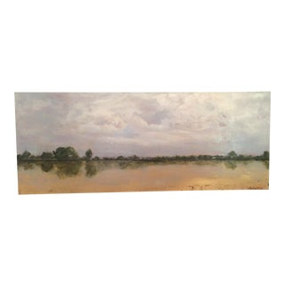 Coastal Scene Gallery Rapped Oil Painting For Sale