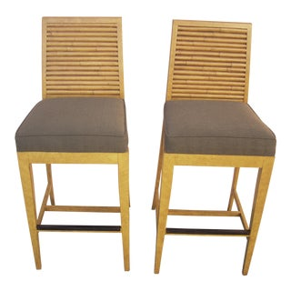 1990s Vintage David Francis Bar Stools- A Pair For Sale
