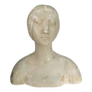1950s Ceramic Female Bust Caproni Bros For Sale