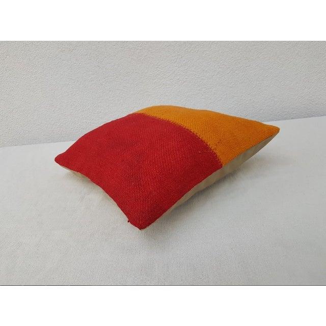 Handmade Turkish Kilim Pillow For Sale - Image 4 of 6