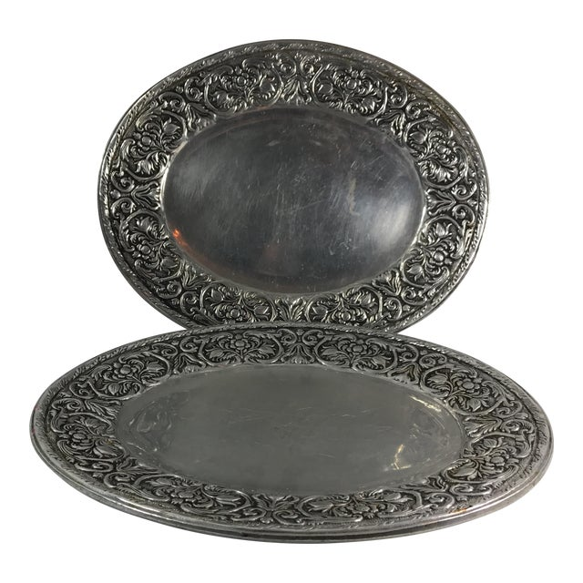 Wilton Armelate William & Mary Hollow Ware Tray For Sale