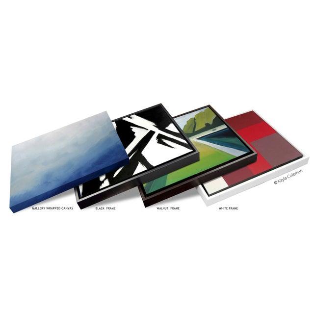 Abstract Black Slash No. 4 - Framed Print 40x60 For Sale - Image 4 of 5