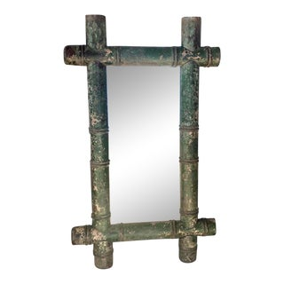 Stylish Antique Bamboo Mirror For Sale