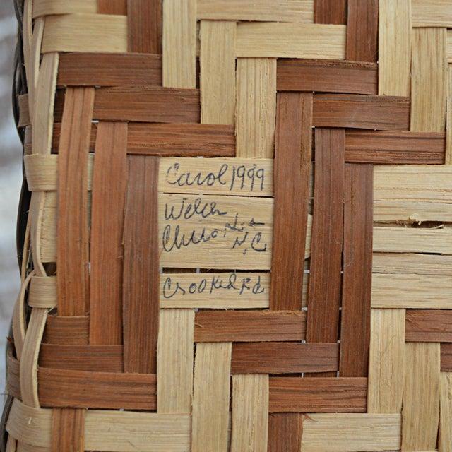 Oak Carol Welch Cherokee White Oak Small Market Basket For Sale - Image 7 of 9