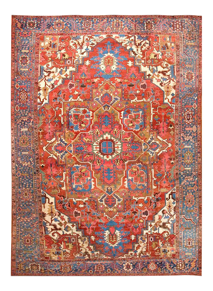 Early 20th Century Antique Serapi Rug 10 14 Chairish