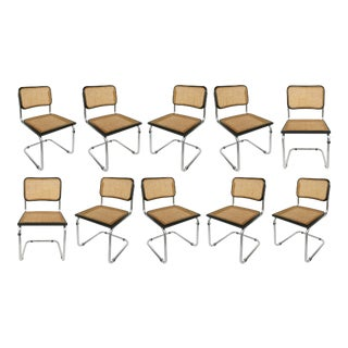 Marcel Breuer Knoll Cesca Dining Chairs-Set of 10 For Sale