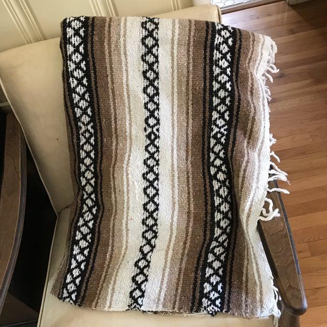 Mexican Boho Serape Blanket - Image 3 of 7
