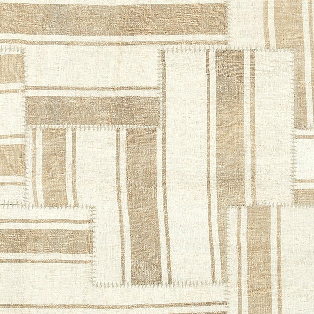 Mid 20th Century Mid 20th Century Vintage Kilim Composition Rug- 5′10″ × 6′ For Sale - Image 5 of 6