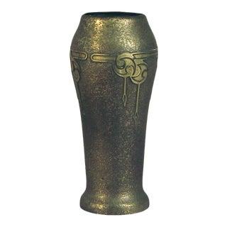 1910s Arts & Crafts Bronze/Silver Crest Vase For Sale