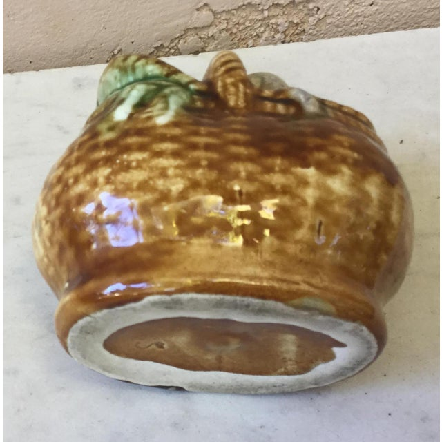 1900 - 1909 Early 20th Century Antique Majolica Money Bank For Sale - Image 5 of 6