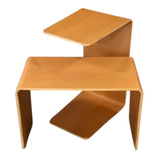 Steelcase Bentwood Side Tables - a Pair For Sale