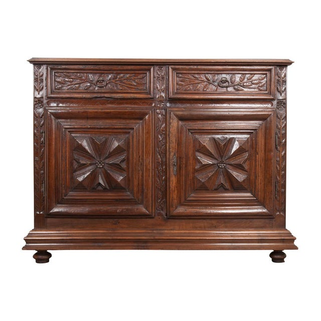 French 18th Century Louis XIII-Style Walnut Buffet For Sale - Image 13 of 13