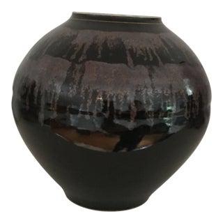 1980s Mid-Century Modern Vase w/ Drip Glaze