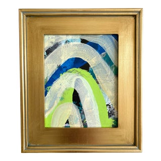 "Jessalin Beutler ""Green Rainbow"" 2021 Framed Painting For Sale"