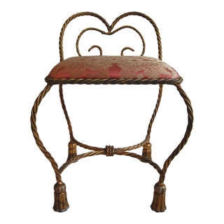 Italian Gilt Rope & Tassel Bench