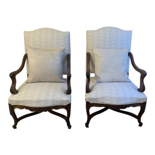 Antique French Reupholstered Chairs - a Pair For Sale