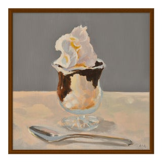 """Hot Fudge Sundae"" by Anne Carrozza Remick, 24"" X 24"""
