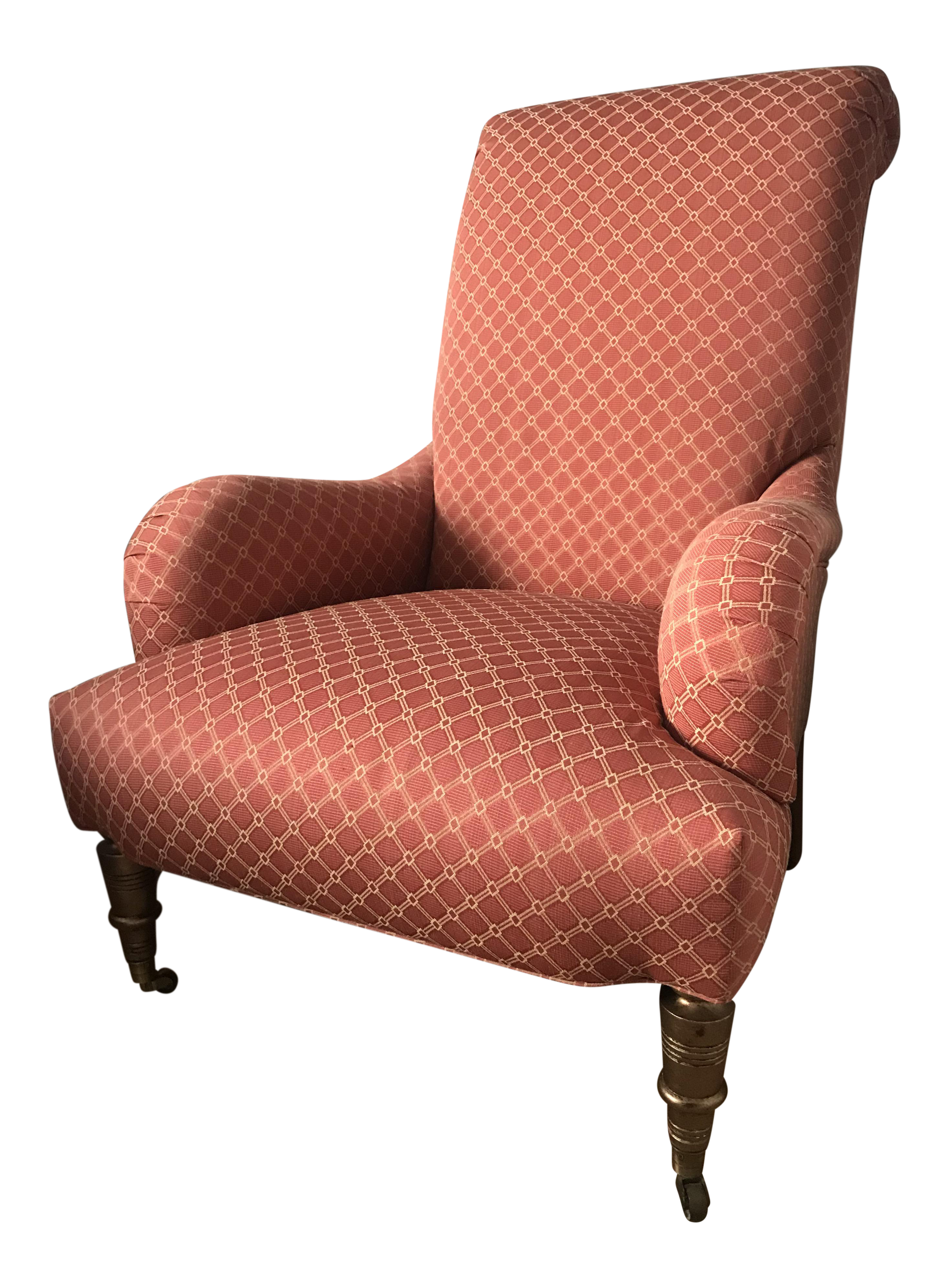 English Roll Arm Empire Chair   Image 1 Of 9