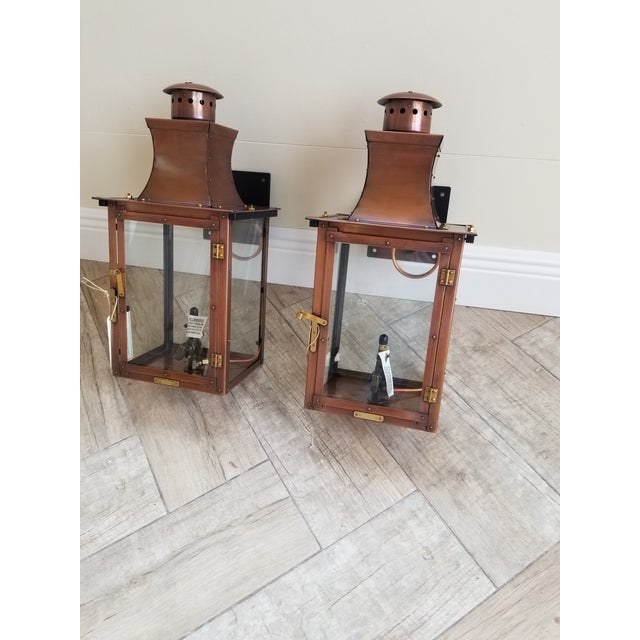 Bevolo Copper Wall Lanterns - a Pair For Sale - Image 11 of 11