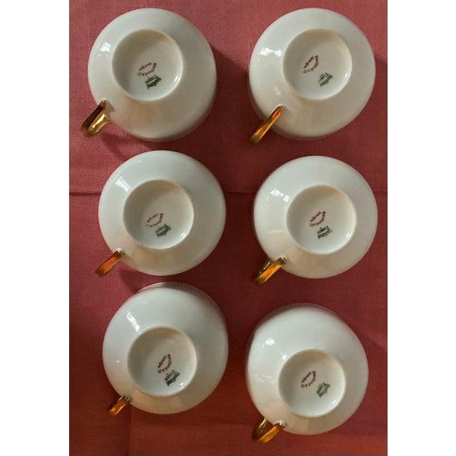 Ceramic 1930s Haviland & Co Limoges France Porcelain Cups - Set of 6 For Sale - Image 7 of 9