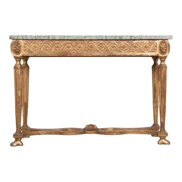 18th Century Period Louis XVI Gold Gilt Console For Sale