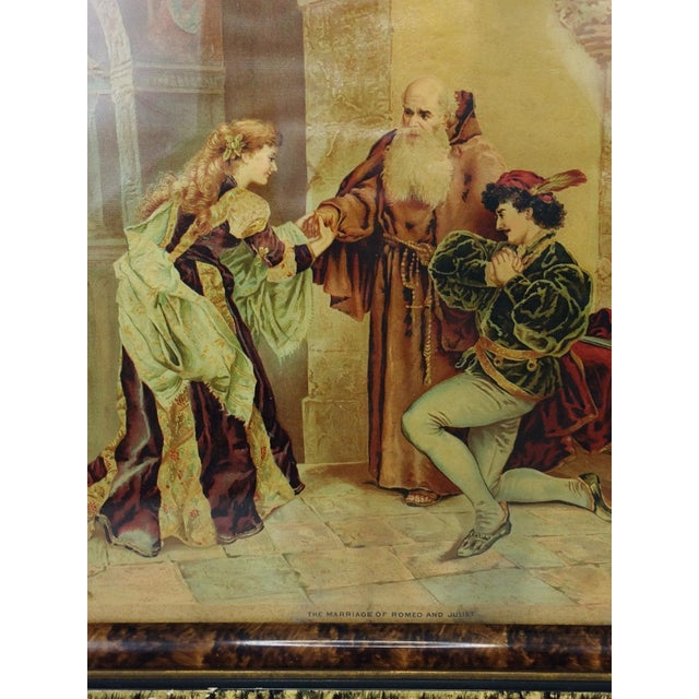 1894 Antique P.O. Vickery Marriage of Romeo and Juliet Art Print - Image 4 of 6
