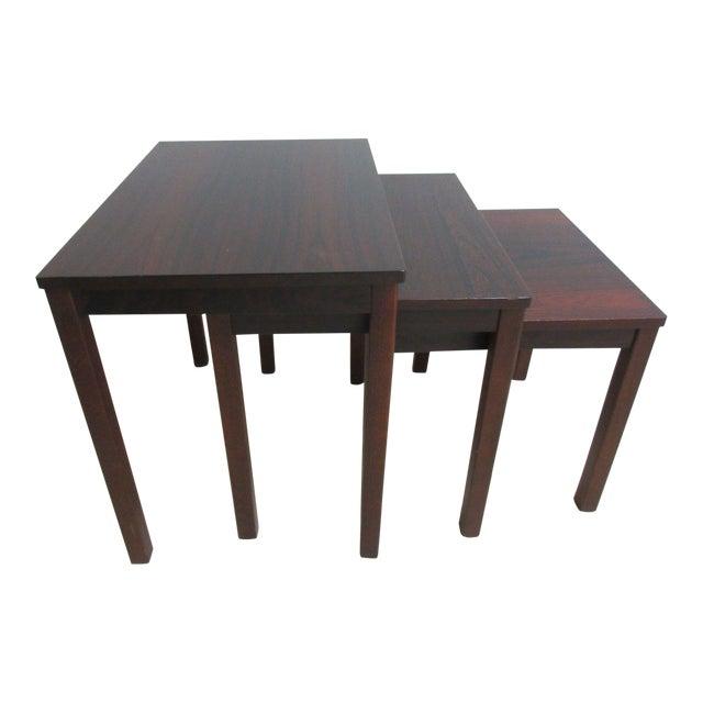 Vintage Danish Modern Rosewood Nesting Tables - Set of 3 For Sale