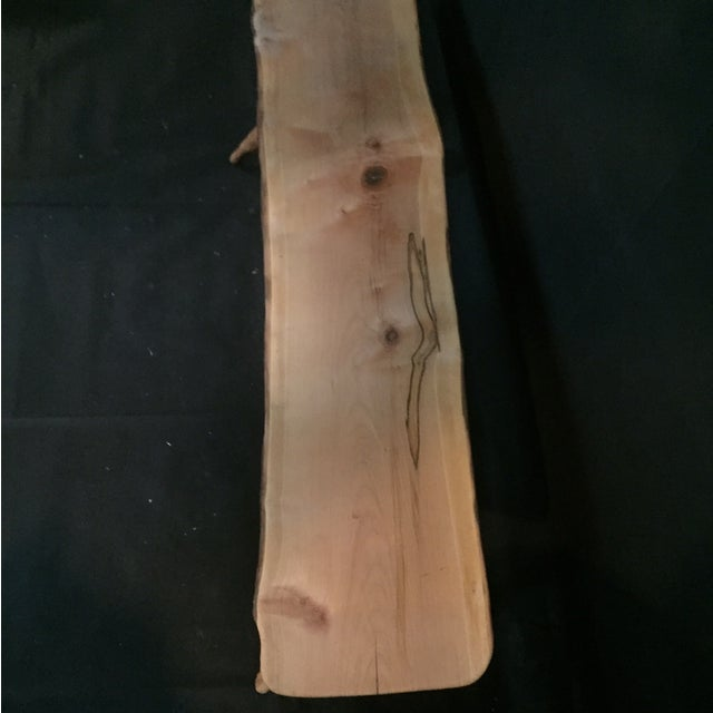 Handmade Rustic Natural Pine Bench - Image 5 of 7