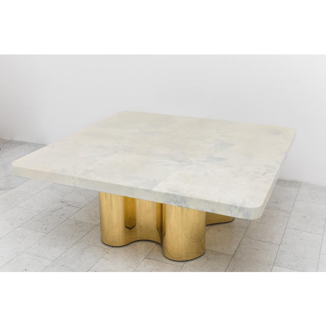 he Freeform Dining Table with Custom Goatskin Top combines Springer's classic 1970s Freeform Table design with a custom...