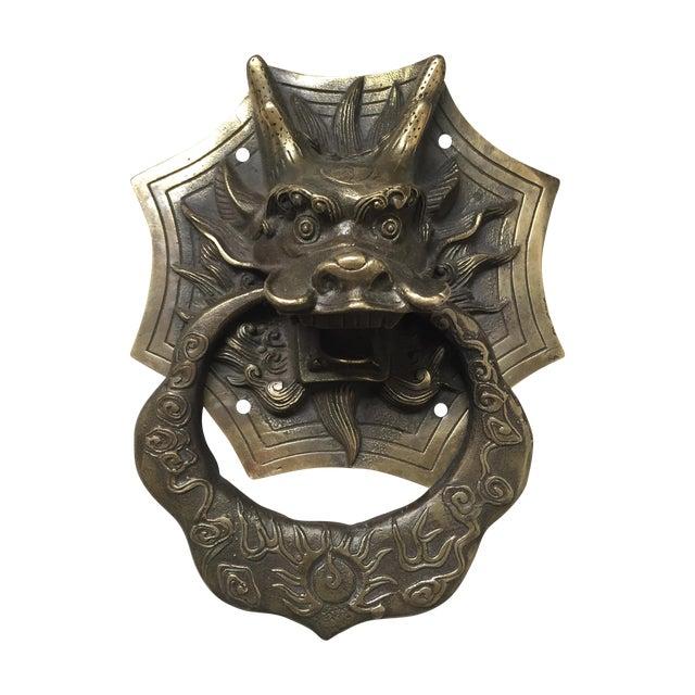 Asian Dragon Brass Door Knocker - Image 1 of 9