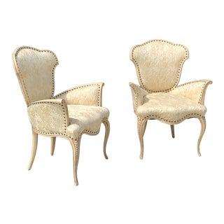 Hollywood Regency Sculptural Tulip Chairs - a Pair For Sale