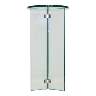 Leon Rosen for Pace Glass Display Pedestal Table