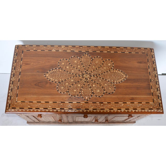 Anglo Indian Bone Inlay Cabinet For Sale - Image 4 of 6