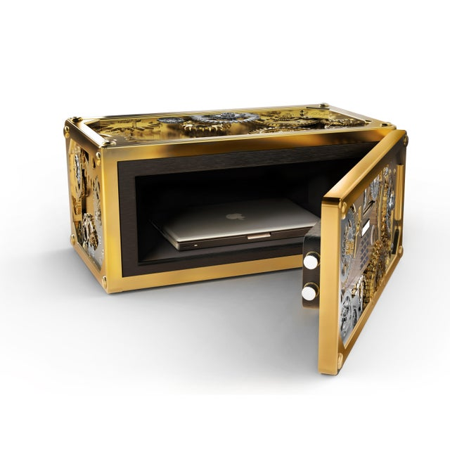 The Baron jewelry safe is designed in Neo-Victorian style and inspired by the precision craft of Swiss watchmaking. It is...