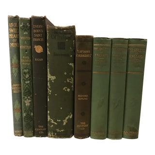 Green Decorative Designer Books - Set of 8 For Sale