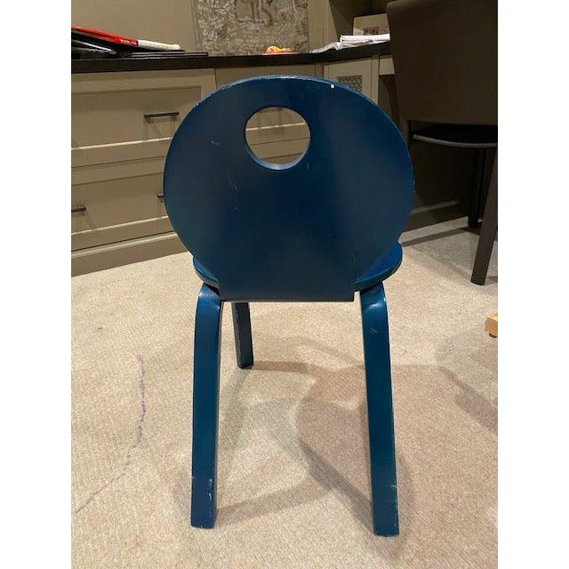Mid-Century Modern Vintage Thonet Children's Bent Wood Seat For Sale - Image 3 of 11