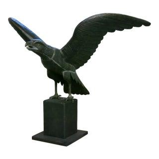 Vintage Handmade Copper Eagle Sculpture For Sale
