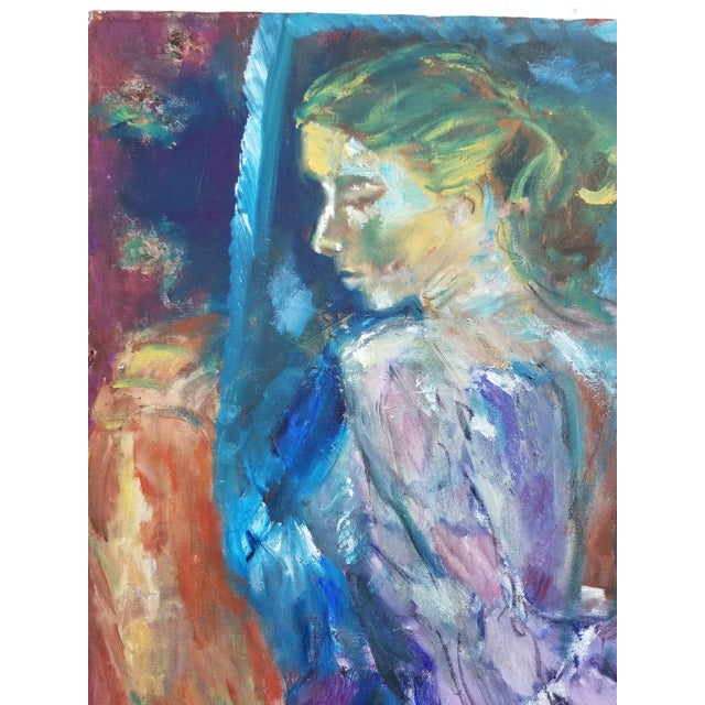 1980s 80's Abstract Nude Woman Painting For Sale - Image 5 of 12