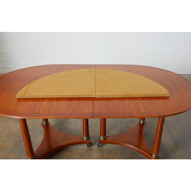 Brown Swedish Biedermeier Style Library or Dining Table For Sale - Image 8 of 13