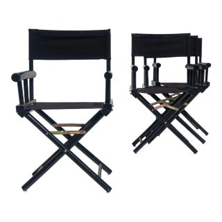 Art Deco Style Directors Chairs - Set of 4 For Sale