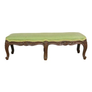 1940s Vintage French Provincial Carved Footstool For Sale