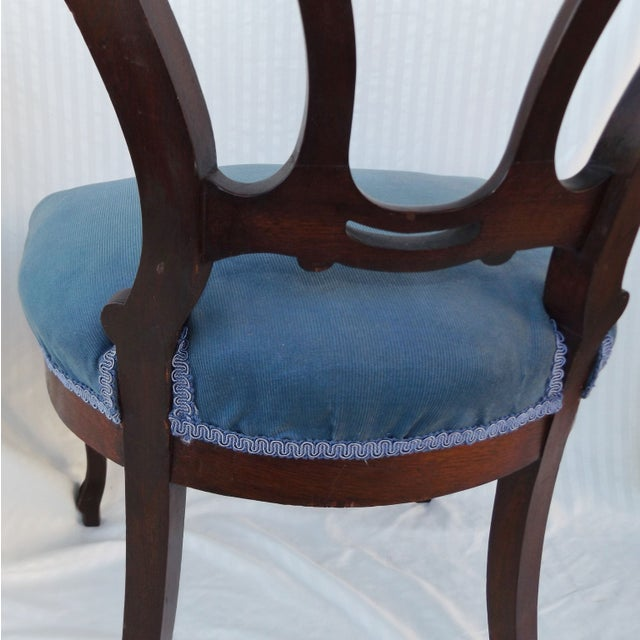 Victorian Ladies Parlor Accent Chair - Image 6 of 8