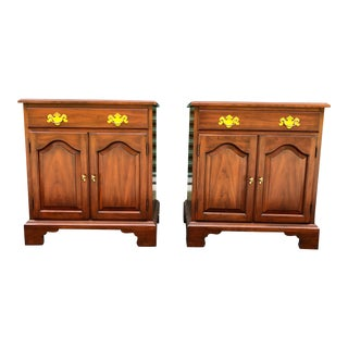 Solid Cherry Henkel Harris Nightstands- a Pair For Sale
