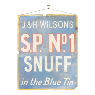 1950s Vintage Rustic Snuff Sign