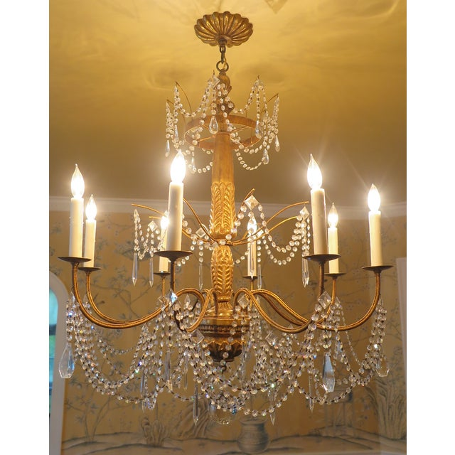 Traditional Paul Ferrante Daphne Chandelier in 22 Karat Gold For Sale - Image 3 of 7
