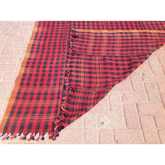 Vintage Hand Made Throw Blanket For Sale In Raleigh - Image 6 of 6
