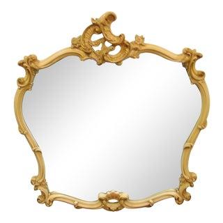 French Rococo Style Cream & Gilt Mirror