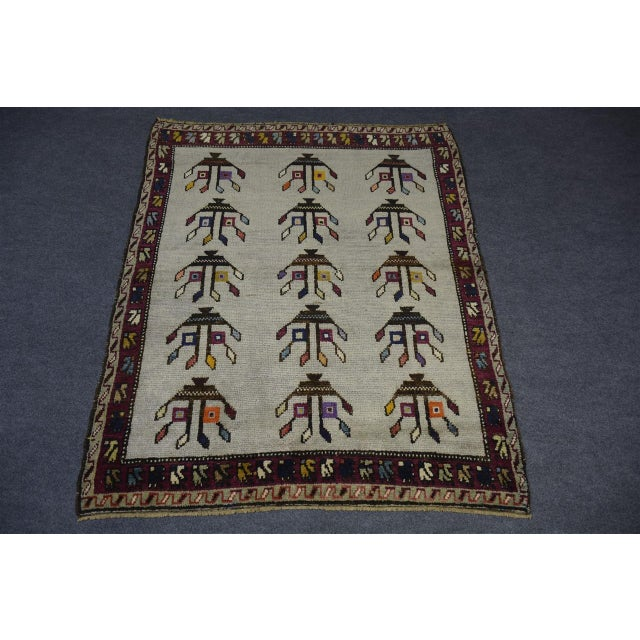 "1970s Vintage Turkish Anatolian Decorative Rug - ′3'10""x4'6"" For Sale - Image 5 of 10"